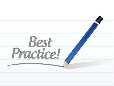 best practice message sign concept illustration design graphic