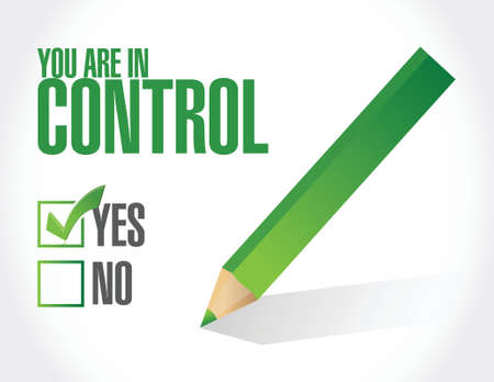 you are in control approval concept illustration design graphic