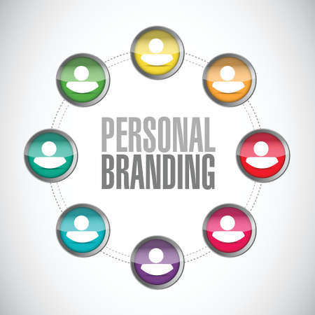 trusted: personal branding people diagram sign illustration design over white