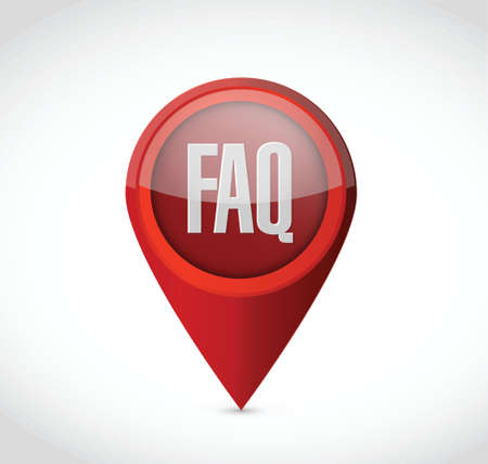 faq pointer sign illustration design over white