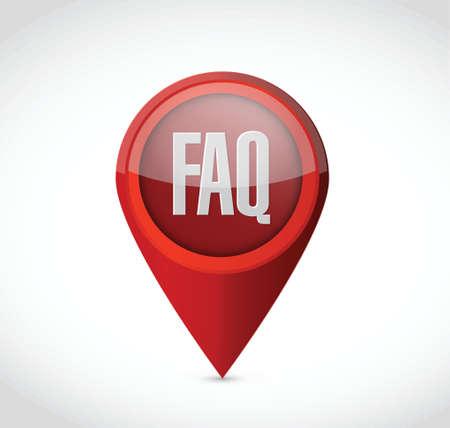 faq pointer sign illustration design over white