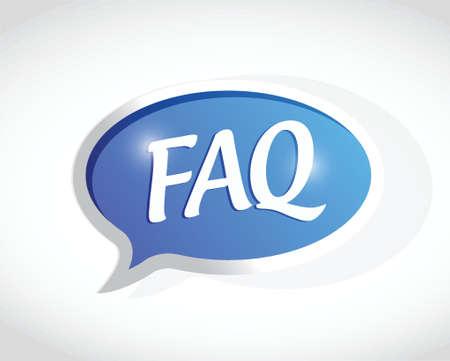 faq message sign illustration design over white 向量圖像