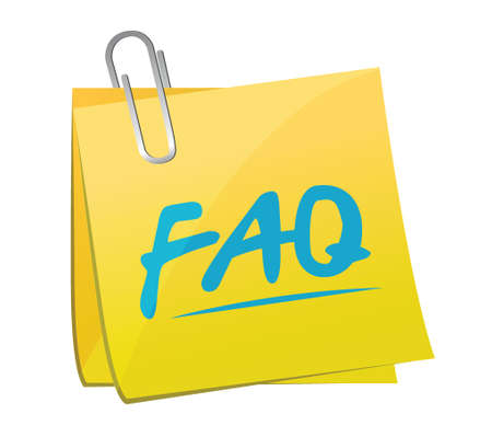 faq memo post sign illustration design over white Vector