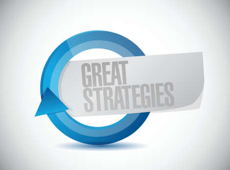 dominating: great strategies cycle sign illustration design over a white background