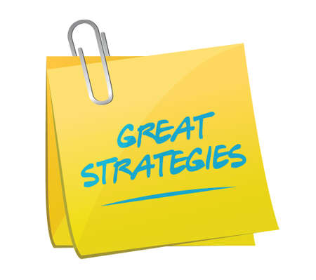 great strategies memo post sign illustration design over a white background Illustration