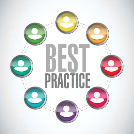 best practice people diagram sign concept illustration design graphic