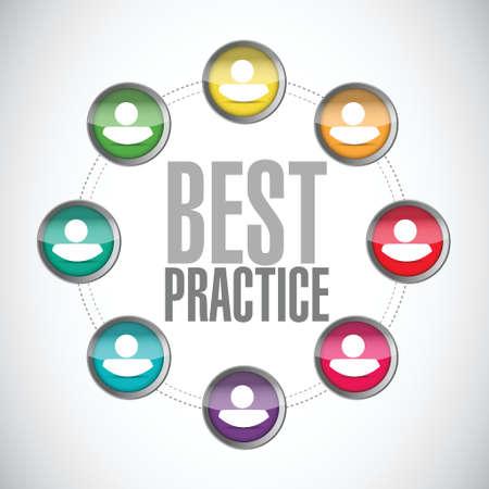 best practice people diagram sign concept illustration design graphic