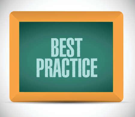 best practice board sign concept illustration design graphic