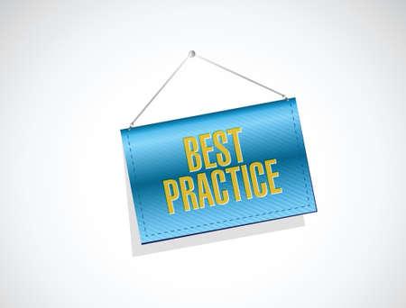 best practice banner sign concept illustration design graphic