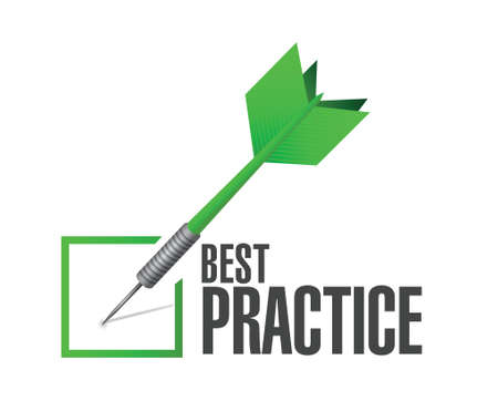 best practice approval check dart sign concept illustration design graphic  イラスト・ベクター素材