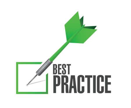best practice approval check dart sign concept illustration design graphic Illustration