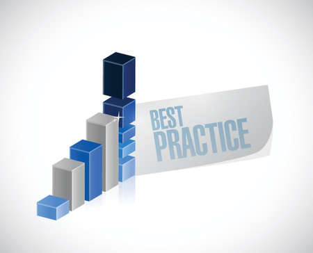 best practice business graph sign concept illustration design graphic