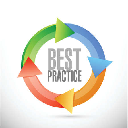 best idea: best practice cycle sign concept illustration design graphic