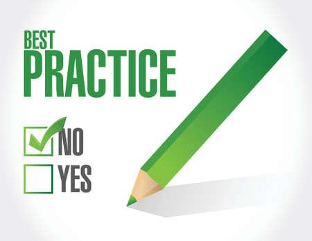 practice: best practice approval sign concept illustration design graphic