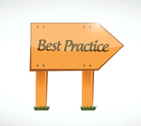 best practice wood sign concept illustration design graphic