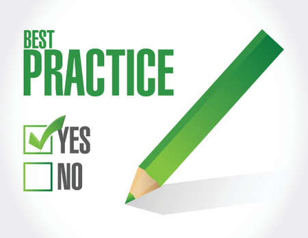 best practice approval sign concept illustration design graphic