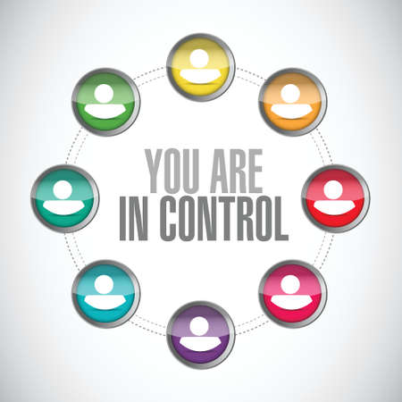 you are in control people diagram sign concept illustration design graphic