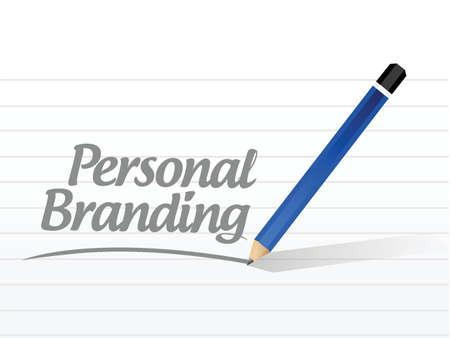 白のブランド メッセージ サイン イラスト デザインは個人  イラスト・ベクター素材