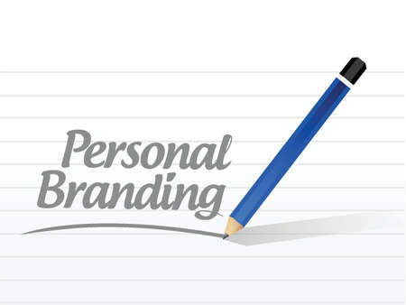 trusted: personal branding message sign illustration design over white