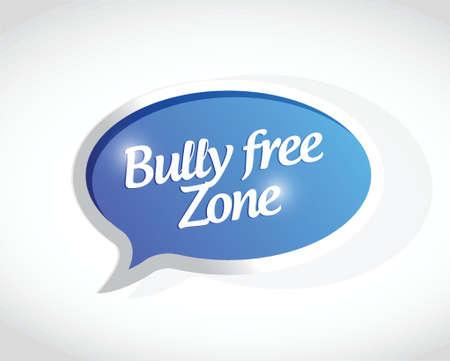 bully: mat�n dise�o zona libre mensaje muestra concepto de ilustraci�n m�s de blanco
