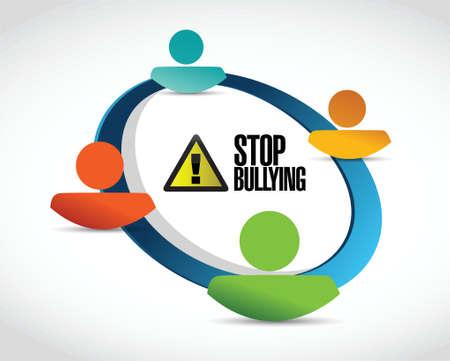 bully: mat�n libre dise�o gente de zona concepto de conexi�n ilustraci�n m�s de blanco