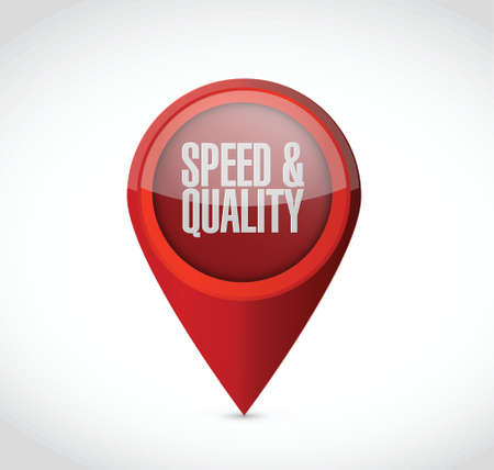 speed and quality pointer sign illustration design over white