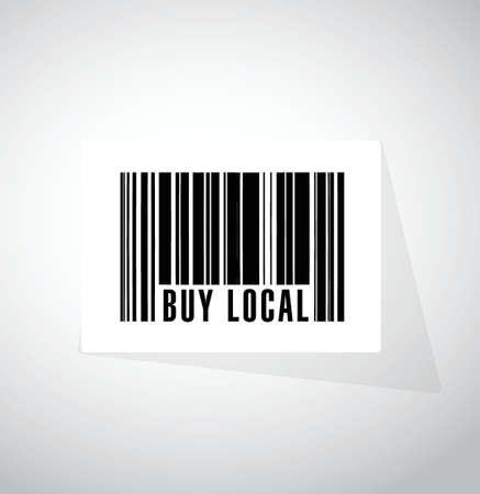 buy local button sign illustration design over a white background