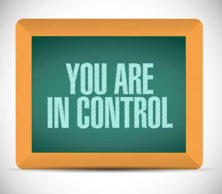 usted está en control Muestra de la tarjeta Ilustración del concepto de diseño gráfico