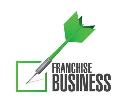 franchise: franchise business check dart sign illustration design over white