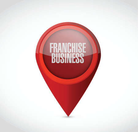 directly above: franchise business pointer sign illustration design over white