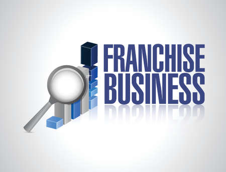 franchise business graph sign illustration design over white Ilustração