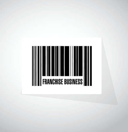 franchise business upc code sign illustration design over white Illusztráció