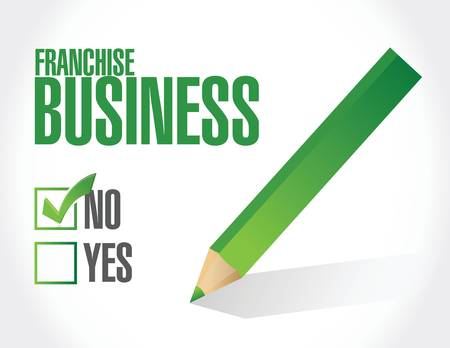 directly above: no franchise business check sign illustration design over white Illustration