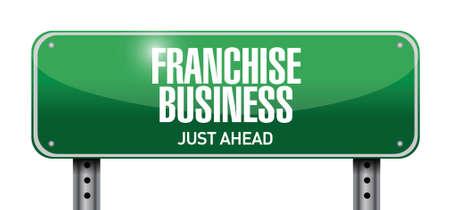 franchise: franchise business street sign illustration design over white Illustration