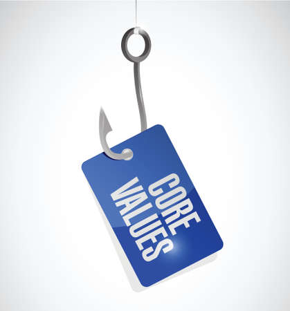 regard: core values hook target sign illustration design over white