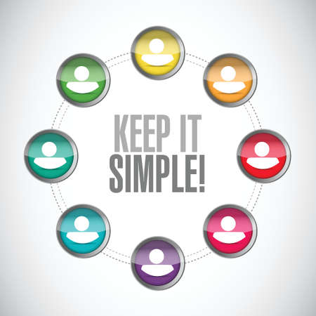 keep it simple people diagram sign illustration design over white Vettoriali