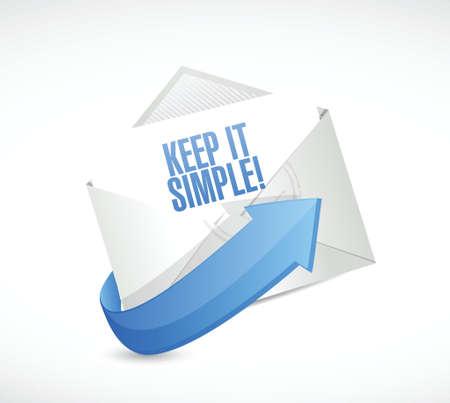 keep it simple mail sign illustration design over white Illustration