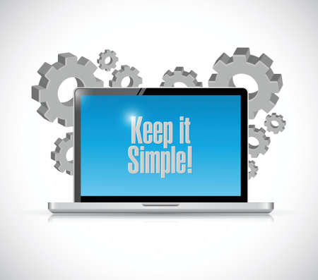 keep it simple technology electronics sign illustration design over white