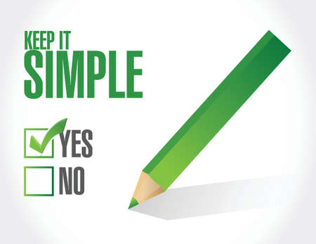 simplify: keep it simple check approval check mark sign illustration design over white