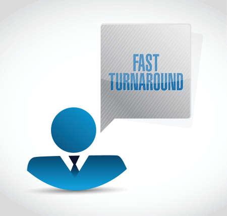 turnaround: fast turnaround avatar sign illustration design over white Illustration