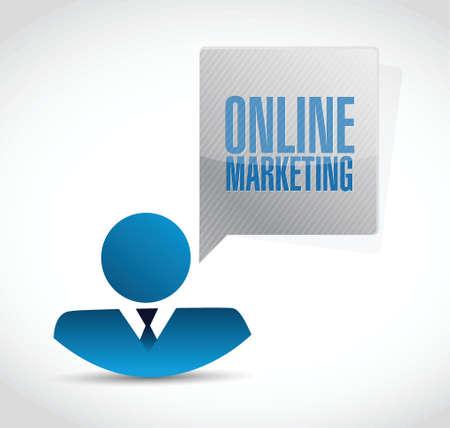 adwords: online marketing business avatar sign illustration design over white Illustration