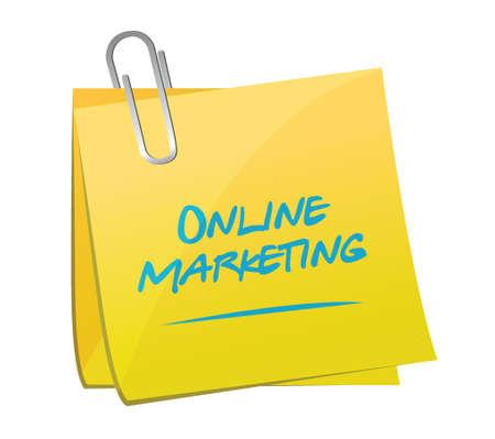 online marketing memo post sign illustration design over white