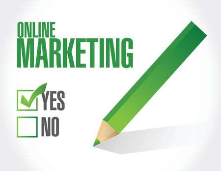 adwords: online marketing approval sign illustration design over white Illustration