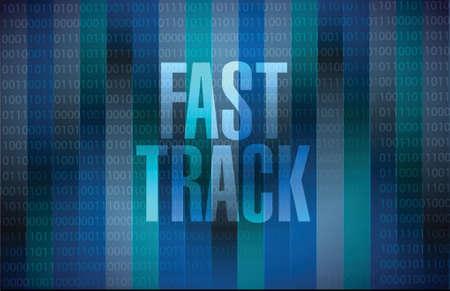 better performance: fast track message sign concept illustration design over black Illustration