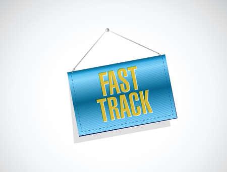 quick money: fast track banner sign concept illustration design over white