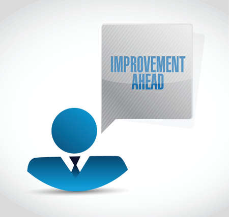 yield sign: improvement ahead people sign illustration design over white