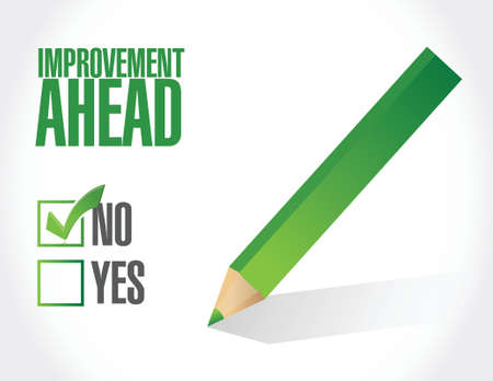 single color image: no improvement ahead sign illustration design over white