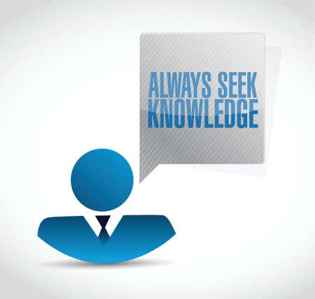always: always seek knowledge avatar sign concept illustration design over white