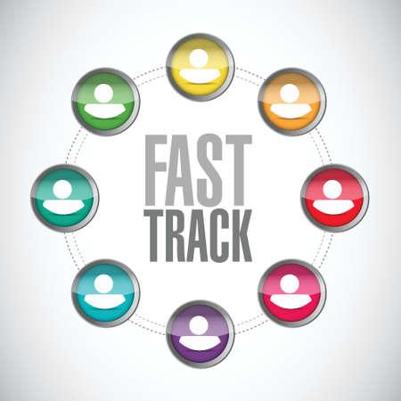 adapt: fast track people diagram sign concept illustration design over white