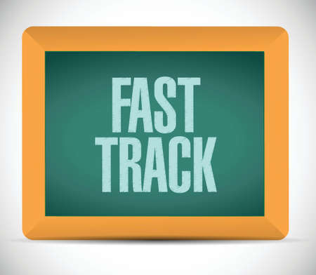 adapt: fast track board sign concept illustration design over white